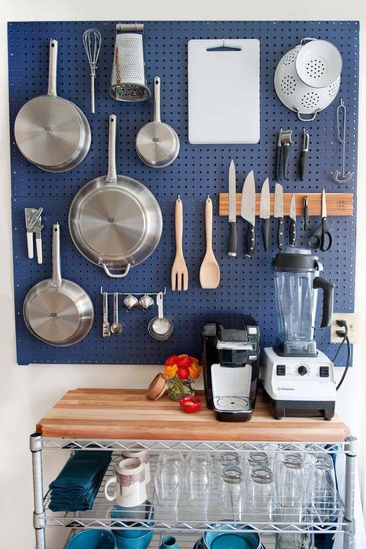 pegboard para cozinha